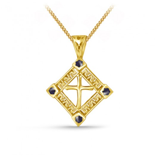 Zodiac Power Cross Pendant